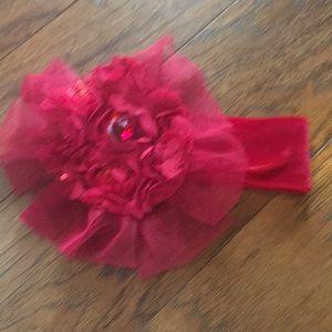 Red headband baby girl
